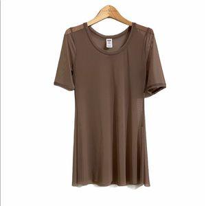 🌷3/$20 Women's Balera Dancewear Brown Mesh S/M